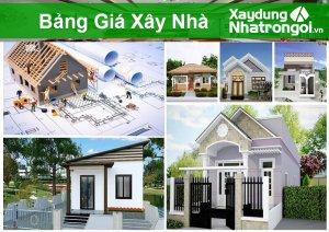 Bảng giá xây nhà tính theo m2