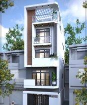 Mẫu thiết kế nhà phố 4 tầng.