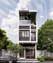 Mẫu nhà phố 3 tầng diện tích 4x15m