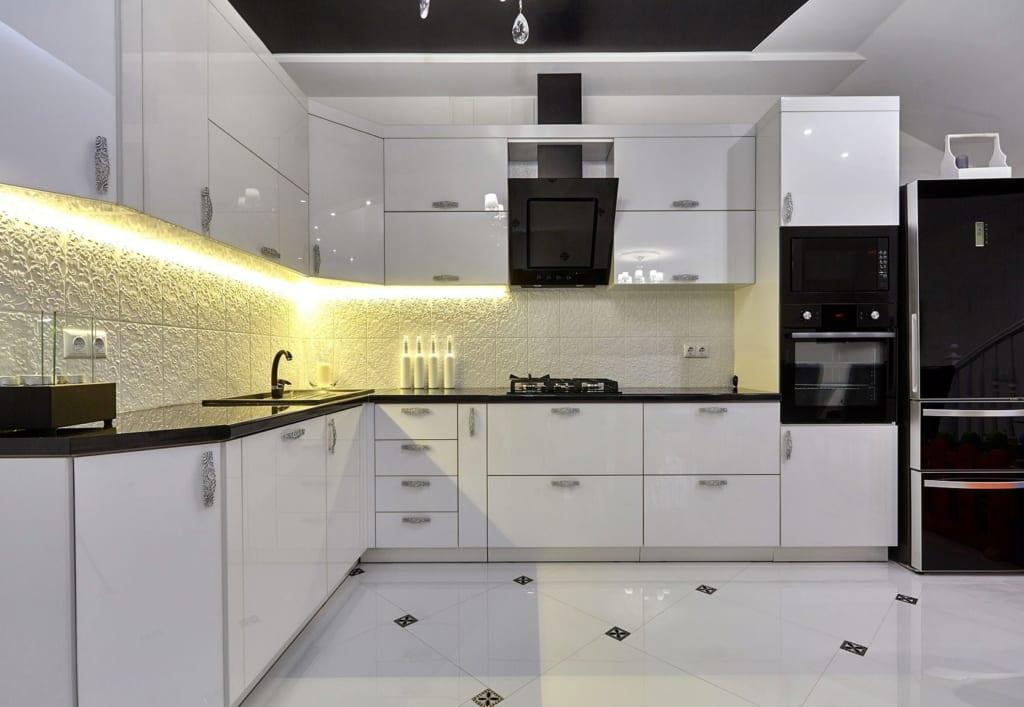 Thiết kế vị trí nội thất trong bếp