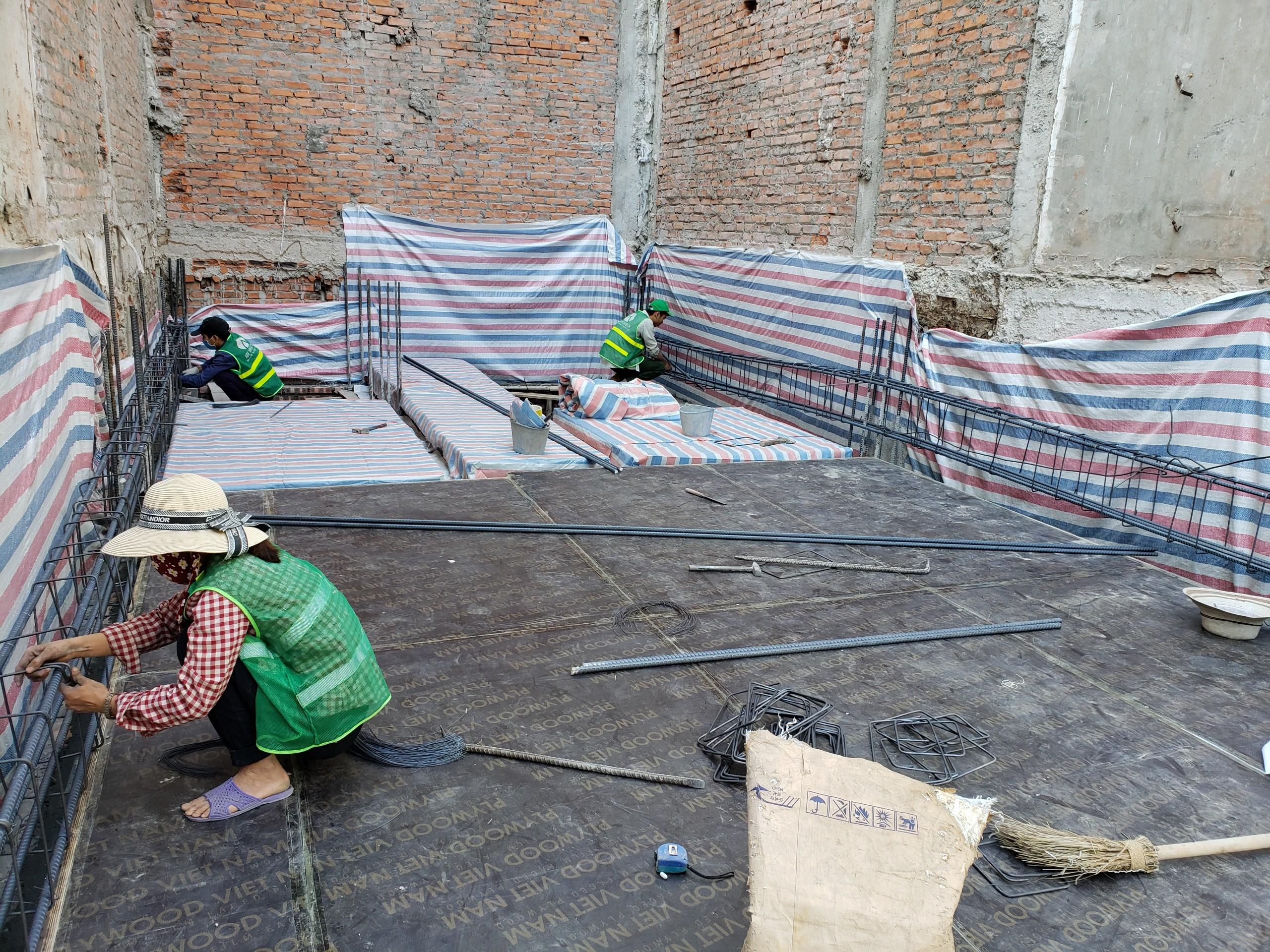 Quá trình thi công nhà chị Thu - Phú Thọ